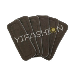 YIFASHION 6pcs/pack 5layers Charcoal Bamboo Absorption Diaper insert 6CBI