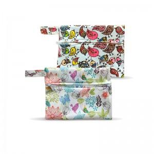 YIFASHIONBABY 100pcs Reusable Storage Bag, Mini Washable Wet Bag , Zipper Little Pouch 15cm x 19cm 100LP