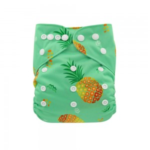 YIFASHIONBABY Reusable Printed Cloth Diapers — Pineapple YI55