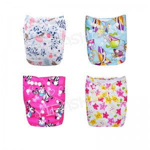 YIFASHIONBABY 4Pack Fresh Flower Girl Diapers Comfortable and Reusable Cloth Diapers With Inserts 4ZP09