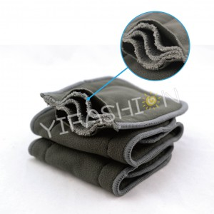 YIFASHION 200pcs/pack 5-Layers Washable Absorbency Charcoal Bamboo Liners  Reusable For Cloth Diapers 200CBI