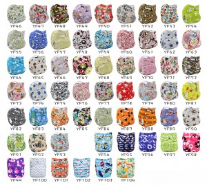 YIFASHIONBABY 20pcs Printed Cloth Diapers Wholesale, Reusable Pocket Nappies With Inserts 20PP