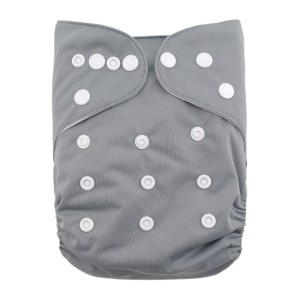 YiFashion Solid Diapers -Granite Grey