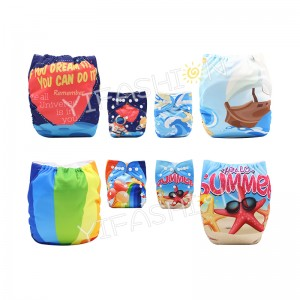 YIFASHIONBABY 4Pack All In One Size Pocket Cloth Diaper Retail with Insert DD-4Z02