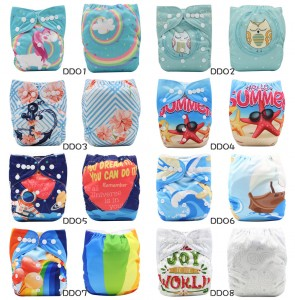 YIFASHIONBABY 20pcs Washable Naturally Comfortable Neutral Pocket Diapers for Baby With Inserts DD-Z20