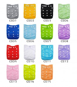 YIFASHIONBABY 20PCS Plain Cloth Diapers for Baby, Washable Pocket Nappies Wholesale With Inserts 20BB