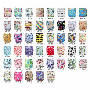 YIFASHIONBABY 50pcs Wholesale Reusable Cloth Diapers for Babies 6-35pounds 50PP