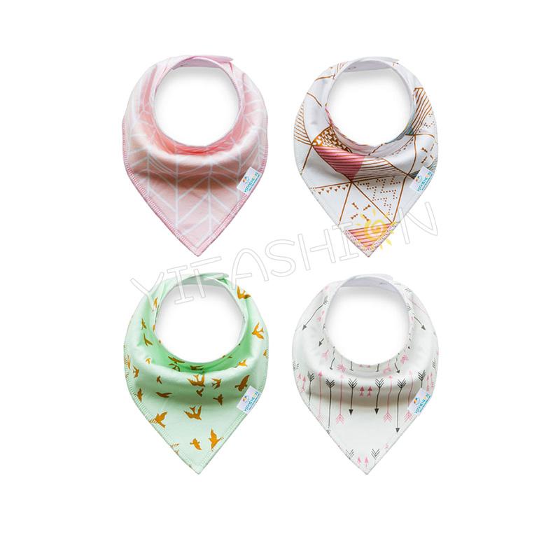 YIFASHIONBABY 100% cotton Absorbent Girl Baby Bandana Drool Bibs For Drooling and Teething YB05