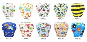 (Swimming Diapers)YIFASHIONBABY 20pcs Waterproof Swimming Nappy Reusable, Adjustable Swim Pants For Baby 0-2ages