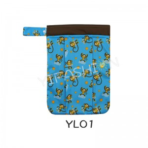 YIFASHION BABY Cutie 1pc Double Zipper Printed Waterproof Wetbags For Multi Use YL01