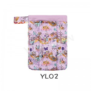 YIFASHION BABY 1pc  Travel Wet and Dry Cloth Diapers Wet Bags Waterproof Reusable with Two Zippered Pockets YL02