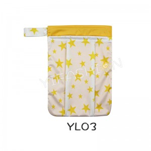 YIFASHION BABY 1pc Waterproof Wet and Dry Bag for Cloth Diaper, Swimming, Potty Training – With Waterproof Seams, 2 Pockets and Handy Straps YL03