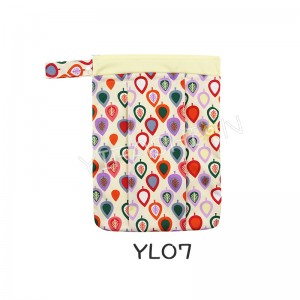 YIFASHION BABY 1pc Baby Wet/Dry Bag Splice Cloth Diaper Waterproof Bags with Zipper Snap Handle YL07