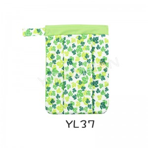 YIFASHIONBABY 1pc Green Leaf Wet Bags,  Baby Diaper Wet/Dry Bags ,Beach, Pool Bag YL37