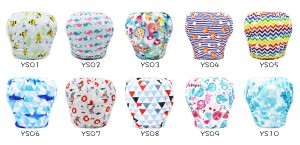 YIFASHIONBABY 20pcs Adjustable One Size Swimming Diapers Baby Reusable, Breathable Underwear 0-2ages