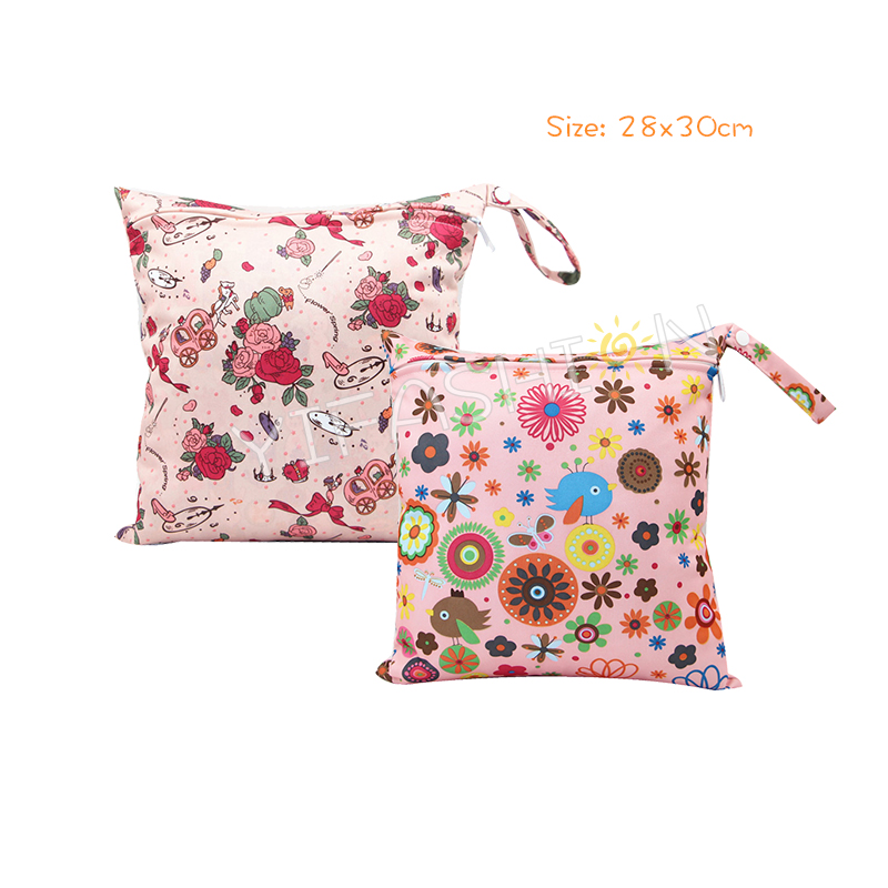 YIFASHION BABY 2pcs/ Set Girls Rose Flowers Single Zippered Wetbags YZ-Z01