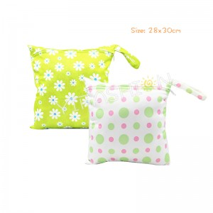 YIFASHION BABY 2pcs/Set Daisy Prints Girls Single Zippered Travel Bags For Baby YZ-Z03