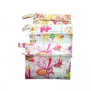 YIFASHIONBABY 5pcs Waterproof little Pouch, Reusable Menstrual Pads bags, zipper carry bag 15cm x 19cm 5LP