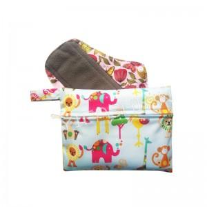 YIFASHIONBABY 10pcs Reusable Sanitary pads bag, Waterproof Laundry bag , zipper Little Pouch 15cm x 19cm 10LP