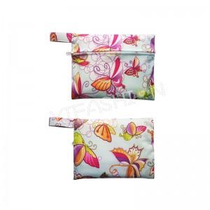 YIFASHIONBABY 50pcs Reusable Little Pouch, Waterproof Mini Wet Bag , Zipper Carry Bag 15cm x 19cm 50LP