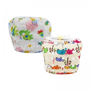 YIFASHIONBABY 2pcs/pack Elephant Girl Baby Swimming Nappy Washable, Breathable Swim Pants 0-2ages YY-Z09