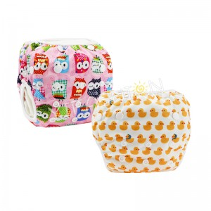 YIFASHIONBABY 2pcs/pack Cute Owl/Duck Girl Washable Swimming Pants, Reusable Swimming Nappy For baby 0-2ages YY-Z07