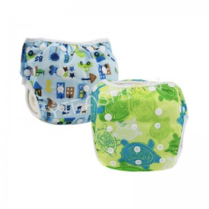YIFASHIONBABY 2pcs/pack Adjustable Boy Swimming Nappy Reusable, Waterproof Swim Pants For Baby 0-2ages YY-Z10